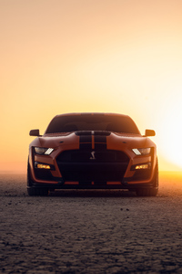 1080x2160 Yellow Ford Mustang Shelby Gt500