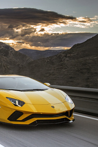 480x854 Yellow Lamborghini 4k