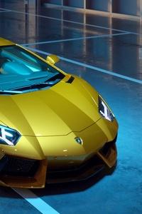 Yellow Lamborghini Aventador New