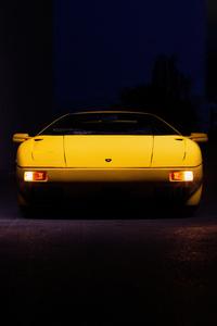 360x640 Yellow Lamborghini Diablo 5k