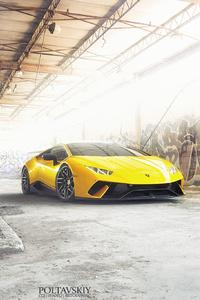 Yellow Lamborghini Huracan 2018