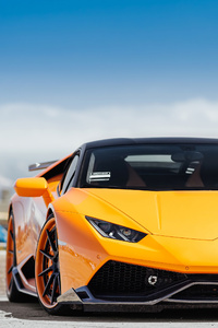800x1280 Yellow Lamborghini Huracan Front 4k