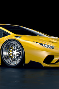 Yellow Lamborghini Huracan Lb 2 Rendered 4k