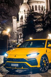 Yellow Lamborghini Urus 2018