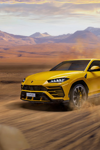 360x640 Yellow Lamborghini Urus 2020