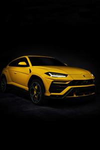 Yellow Lamborghini Urus 4k