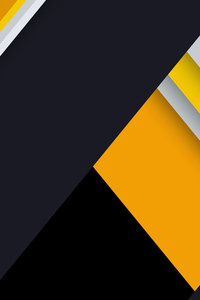 240x400 Yellow Material Design Abstract 8k