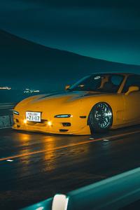 Yellow Mazda 4k