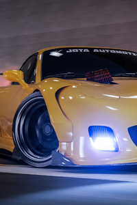 800x1280 Yellow Mazda Rx7 Drifting 4k
