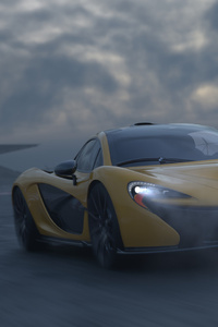 480x800 Yellow Mclaren P1 Car