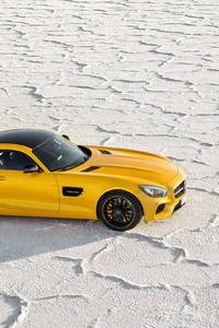 480x800 Yellow Mercedes Benz Amg GT