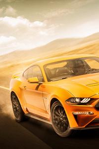 Yellow Mustang 4k