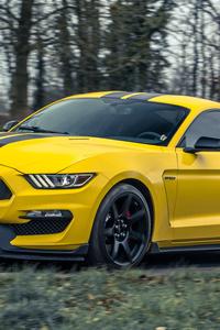 1280x2120 Yellow Mustang 5k