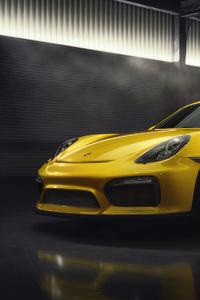 2160x3840 Yellow Porsche 2019