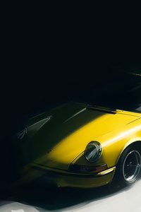 1280x2120 Yellow Porsche Artwork