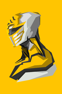 Yellow Power Rangers 4k Art