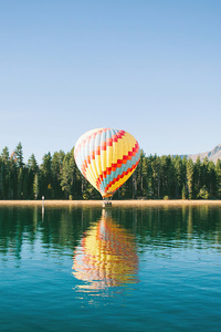 2160x3840 Yellow Red Hot Air Balloon 4k