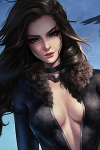 360x640 Yennefer Witcher Artwork