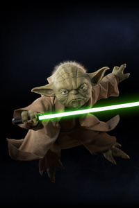 1242x2688 Yoda Star Wars Battlefront II