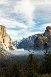 1080x2280 Yosemite Valley Beautiful View