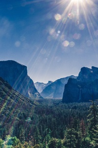 1242x2688 Yosemite Valley Landsacpe 5k