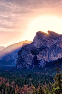 480x800 Yosemite Valley Morning