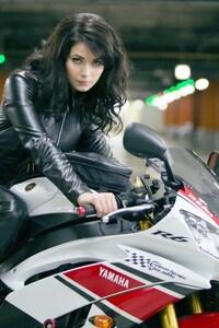 Yulia Snigir Posing on Yamaha