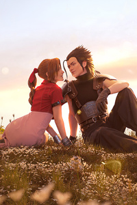 320x568 Zack Fair And Aerith Cosplay