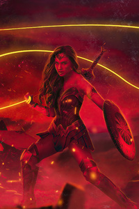 720x1280 Zack Snyders Justice League Wonder Woman Poster 5k