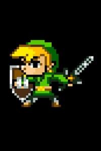 640x1136 Zelda 8 Bit Minimalism