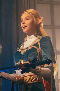 1440x2960 Zelda Cosplay The Legend Of Zelda Breath Of The Wild 4k
