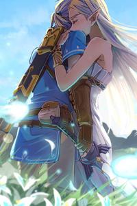 Zelda Hugging Link While Crying 4k