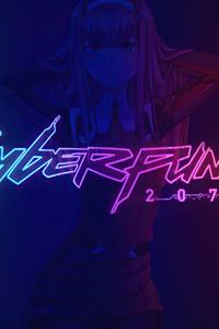 Zero Two Darling In The Franxx Anime Cyberpunk 2077 4k