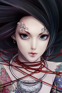 Zhang Xiao Bai Anime Tattoo Girl