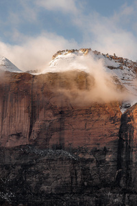 Zion National Park United States Rock Mountains Sunlight Glow 8k