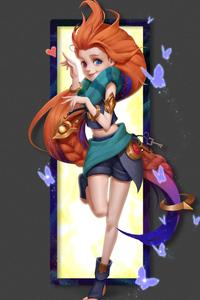 240x320 Zoe League Of Legends Minimal Art 4k