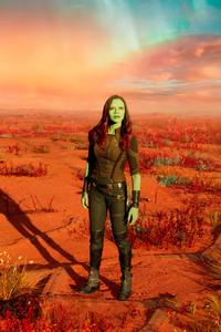 Zoe Saldana As Gamora In Guardians Of Galaxy Vol 2